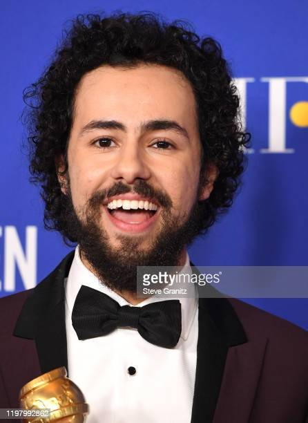 Ramy Youssef poses in the press room at the 77th Annual Golden Globe Awards at The Beverly Hilton Hotel on January 05 2020 in Beverly Hills California