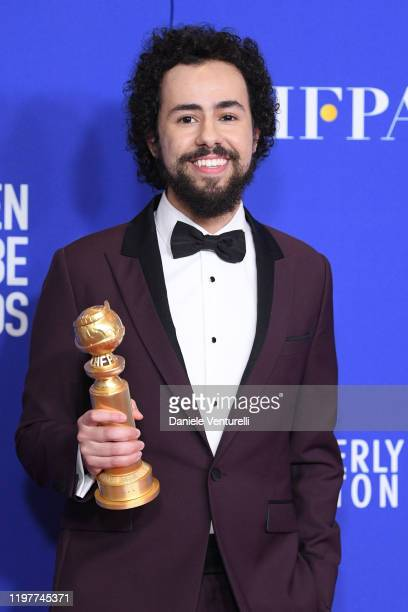 Ramy Youssef poses in the press room during the 77th Annual Golden Globe Awards at The Beverly Hilton Hotel on January 05 2020 in Beverly Hills...