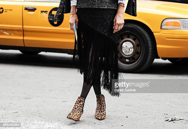 Ramya Giangola is seen outside the Tibi show on February 14 2015 in New York City