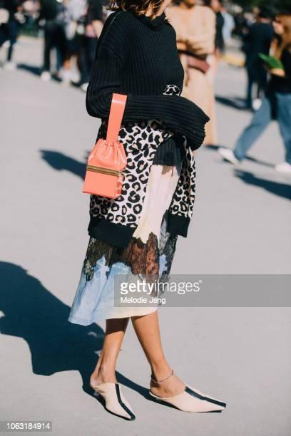 Ramya Giangola wears Celine by Phoebe Philo during Paris Fashion Week Spring/Summer 2019 on September 27 2018 in Paris France
