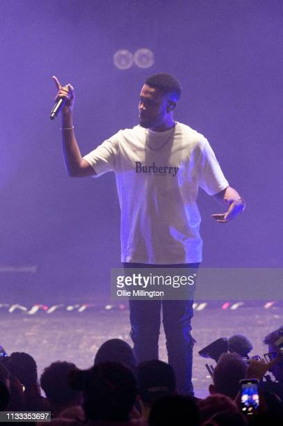 Ramz performs on stage during GRM Daily Presents The Rated Legend Tribute Show In Memory Of Cadet at Brixton Academy on March 2 2019 in London England