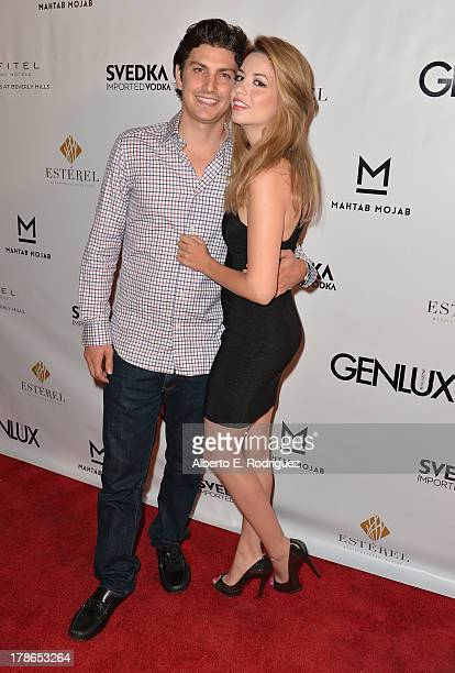 Ramzi Habibi and actress Masiela Lusha arrives to Genlux Magazine's Issue Release party featuring Erika Christensen at The Sofitel Hotel on August 29...