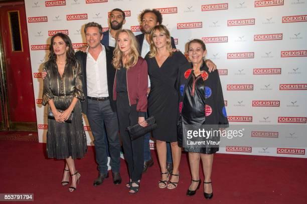 Ramzy Bedia Amelle Chahbi Guillaume de Tonquedec Audrey Lamy Mathilde Seigner guest and Fabrice Eboue attend 'Coexister' Paris Premiere at Le Grand...