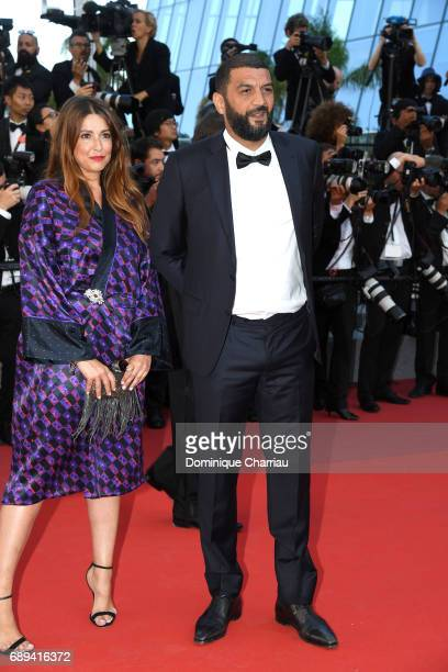 Ramzy Bedia and a guest attend the Closing Ceremony during the 70th annual Cannes Film Festival at Palais des Festivals on May 28 2017 in Cannes...