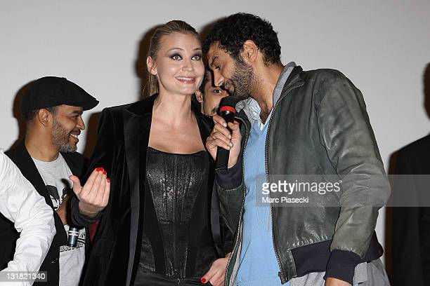 Ramzy Bedia and Anca Radici attend the 'Halal Police d'etat' premiere at UGC Cine Cite Bercy on February 15 2011 in Paris France