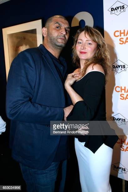 Ramzy Bedia and Julie Ferrier attend the Chacun sa vie Paris Premiere at Cinema UGC Normandie on March 13 2017 in Paris France