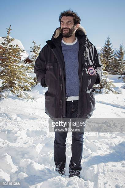 Ramzy Bedia poses at a photocall during the 18th L'Alpe D'Huez International Comedy Film Festival on January 15 2016 in Alpe d'Huez France