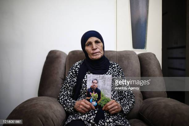 Rana Hallak, mother of autistic Palestinian man Iyad Hallak , who were killed by Israeli police in East Jerusalem, at the Old Cityâs Lionsâ Gate on...