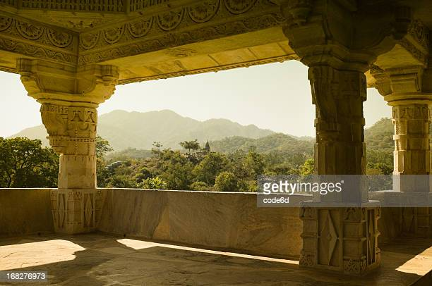 ranakpur hindu temples - jain temple stock photos and pictures