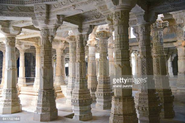ranakpur jain temple in rajasthan, india. - ranakpur temple stock photos and pictures