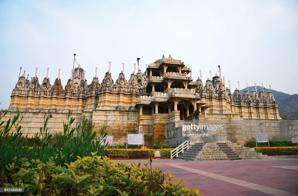 Ranakpur Jain Temple in Rajasthan, India. : Stock Photo