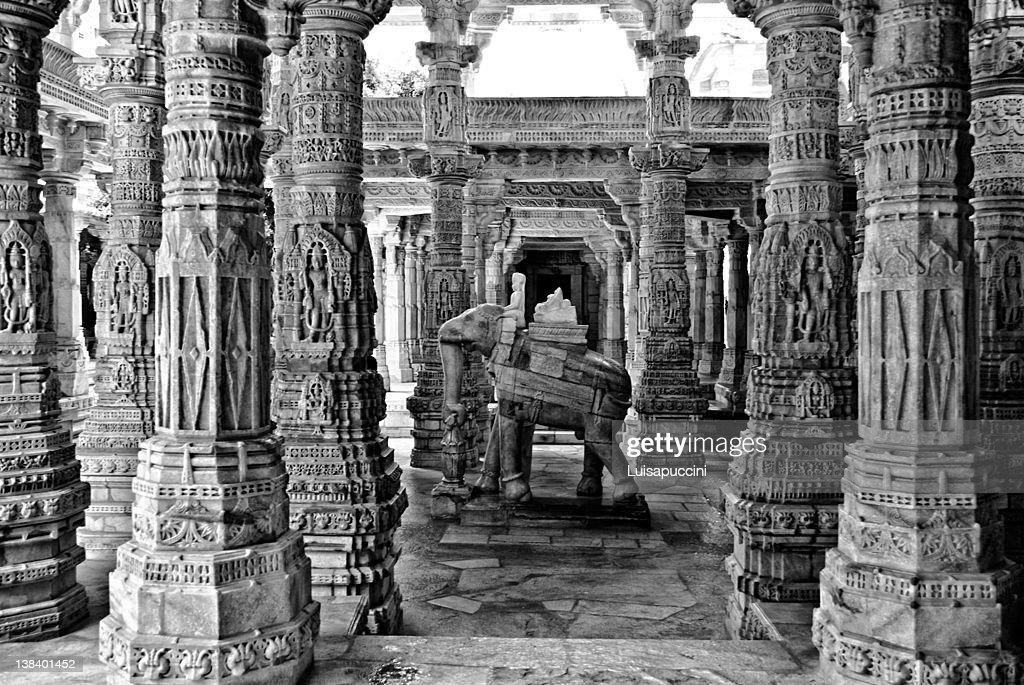 Ranakpur, Jain temple : Stock Photo