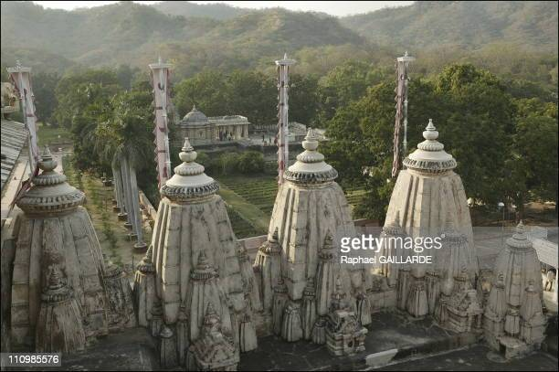Ranakpur Small domes decorate the outer rampart of the Jain fortress temple at Ranakpur In the background is a small shrine appended to the temple...