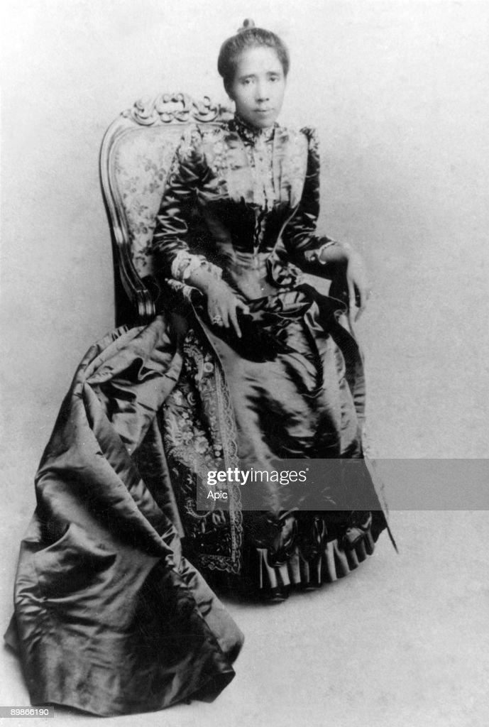 Ranavalona III (1862-1917) queen of Madagascar in 1883-1897, photo Nadar : News Photo