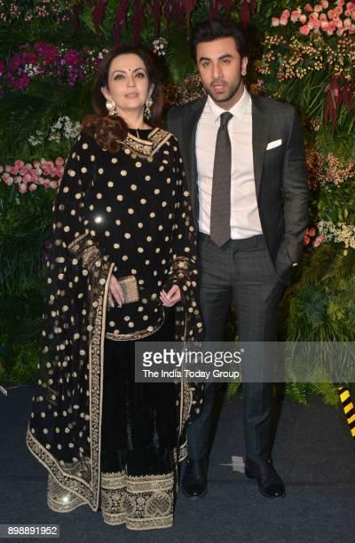 Ranbir Kapoor and Nita Ambani at Virat Kohli and Anushka Sharmas reception in Mumbai