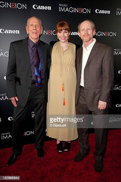 Rance Howard Bryce Dallas Howard and Ron Howard attend the 'Long Live Imagination' campaign screening of 'When You Find Me' at the American Museum of...