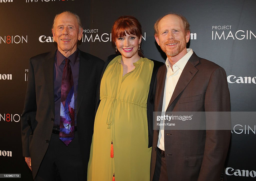 Rance Howard, Bryce Dallas Howard and Ron Howard attend the premiere of 'When You Find Me' at the American Museum of Natural History on November 15, 2011 in New York City.