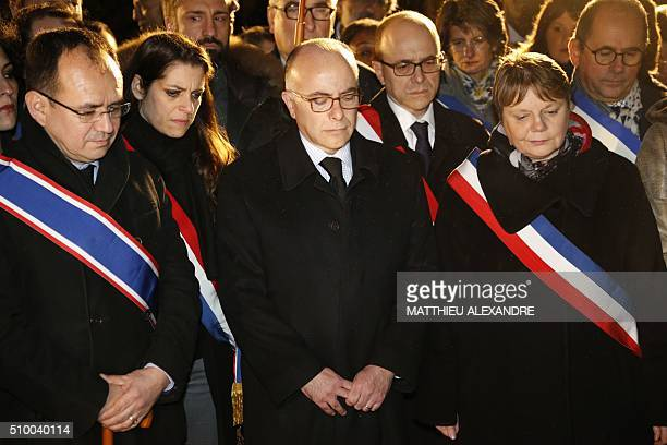 rance Interior Minister Bernard Cazeneuve and Bagneux's Mayor MarieHelene Amiable take part in a ceremony marking the 10th anniversary of the death...