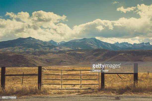 ranch gate - prairie stock pictures, royalty-free photos & images