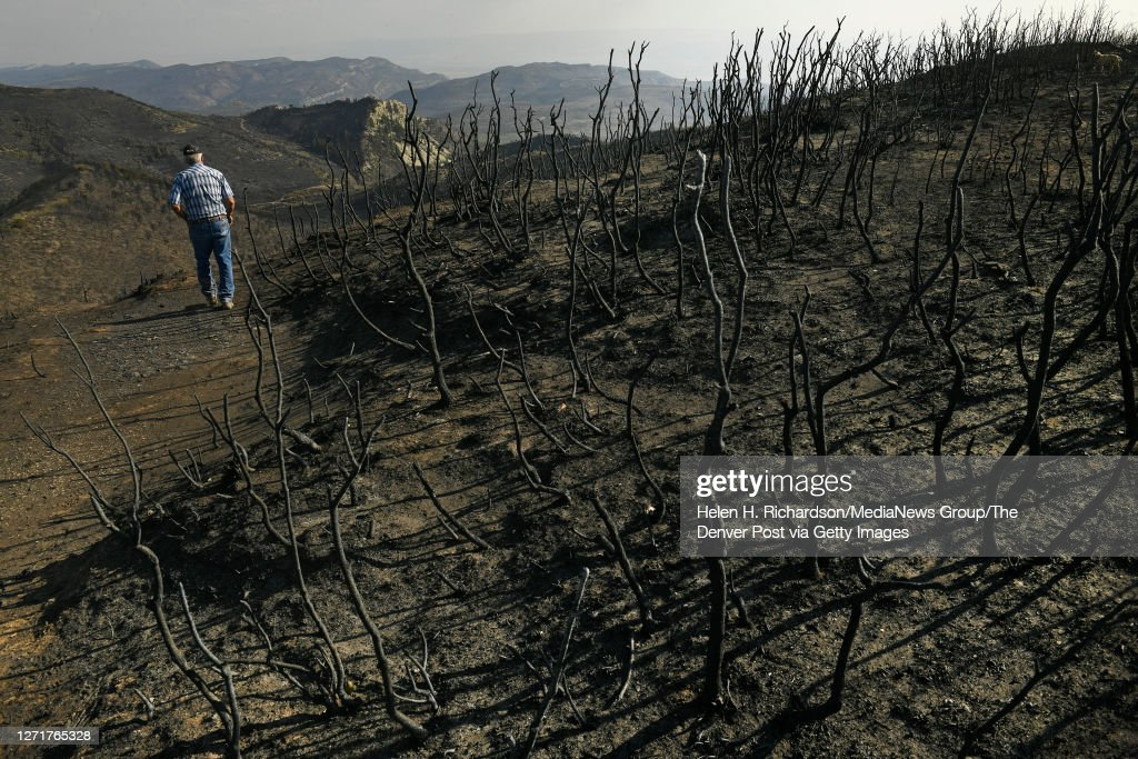 Ranchers Pine Gulch Fire : News Photo
