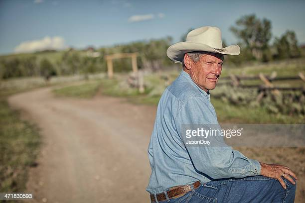 rancher on a road - montana western usa stock pictures, royalty-free photos & images