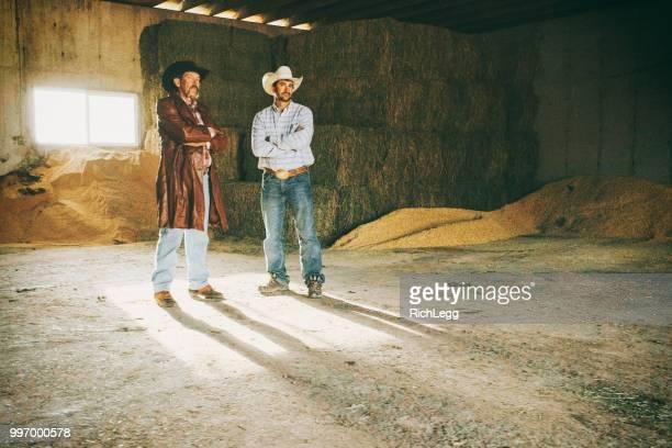 Ranchers on a Dairy Farm