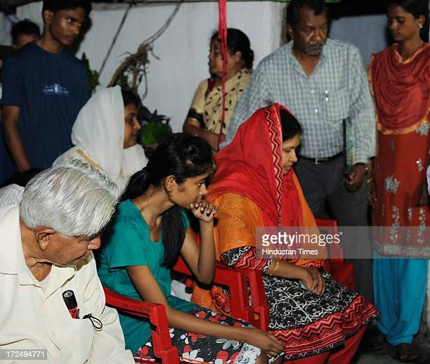 Suman Lata Balihar widow father daughter and other relatives of the slained S P of Pakur Amarjeet Balihar in a naxal attack near Kathikund in Santhal...