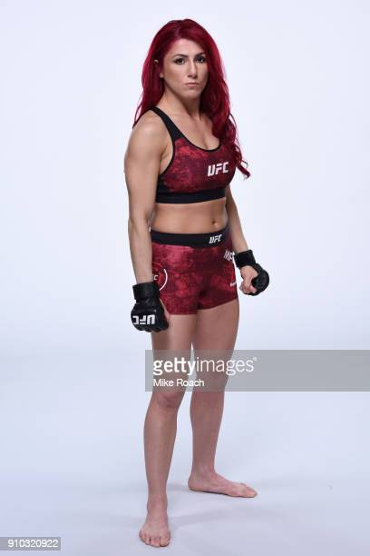 Randa Markos of Iraq poses for a portrait during a UFC photo session on January 24 2018 in Charlotte North Carolina