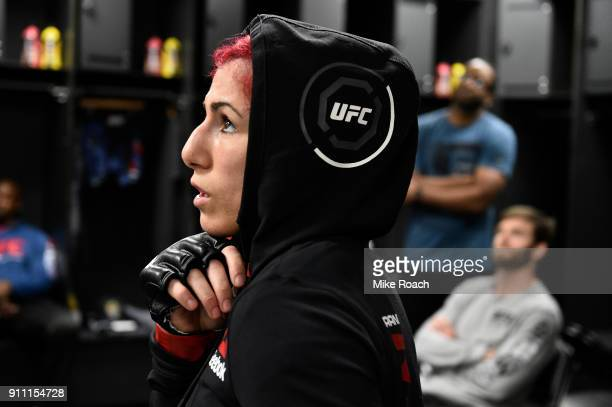 Randa Markos of Iraq warms up backstage during a UFC Fight Night event at Spectrum Center on January 27 2018 in Charlotte North Carolina