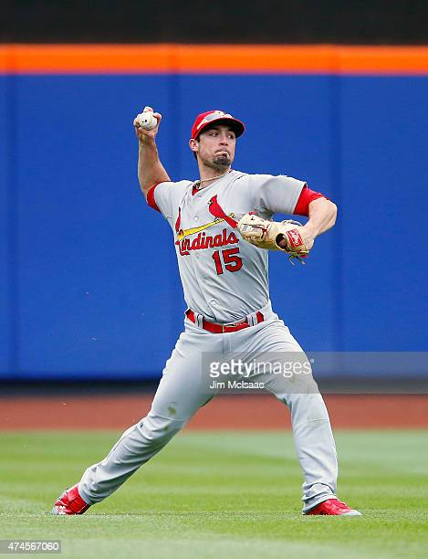 Randal Grichuk of the St Louis Cardinals in action against the New York Mets at Citi Field on May 21 2015 in the Flushing neighborhood of the Queens...