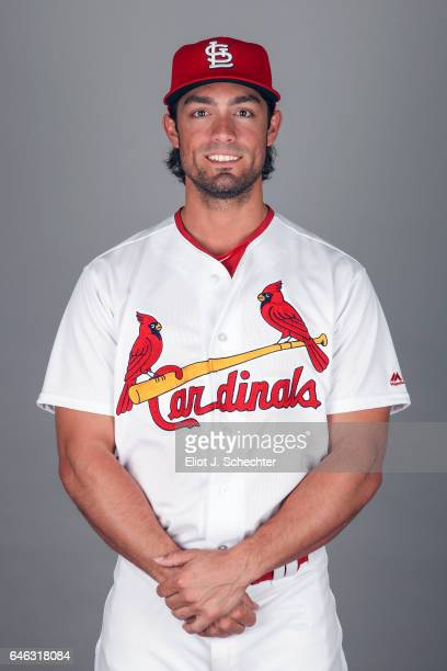 Randal Grichuk of the St Louis Cardinals poses during Photo Day on Monday February 20 2017 at Roger Dean Stadium in Jupiter Florida