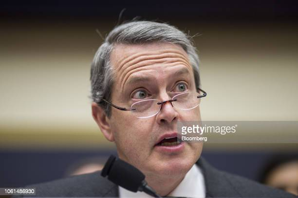 Randal Quarles vice chairman of supervision at the US Federal Reserve speaks during a House Financial Services Committee hearing in Washington DC US...