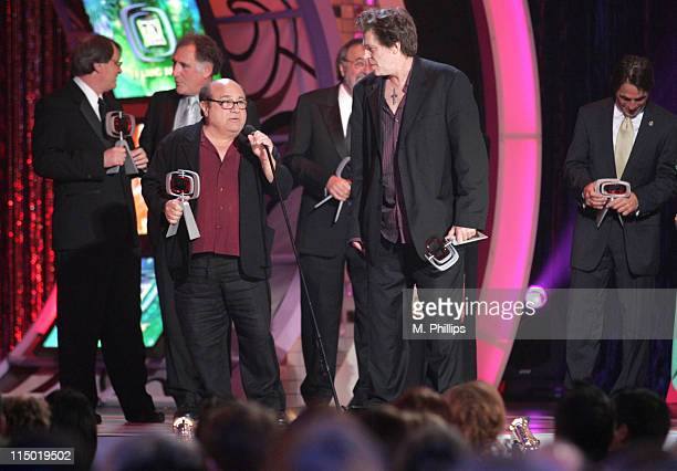 Randall Carver Judd Hirsch Danny DeVito James L Brooks Jeff Conaway and Tony Danza winners Medallion Award for 'Taxi'