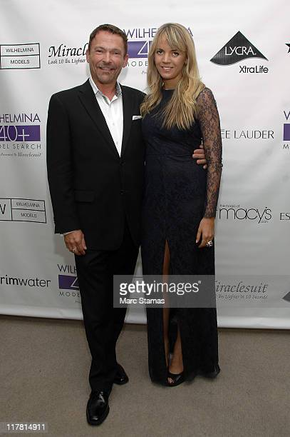 Randall Christensen and Sophia Banks attend the 2011 Wilhelmina 40 Model Search at Macy's Herald Square on June 30 2011 in New York City
