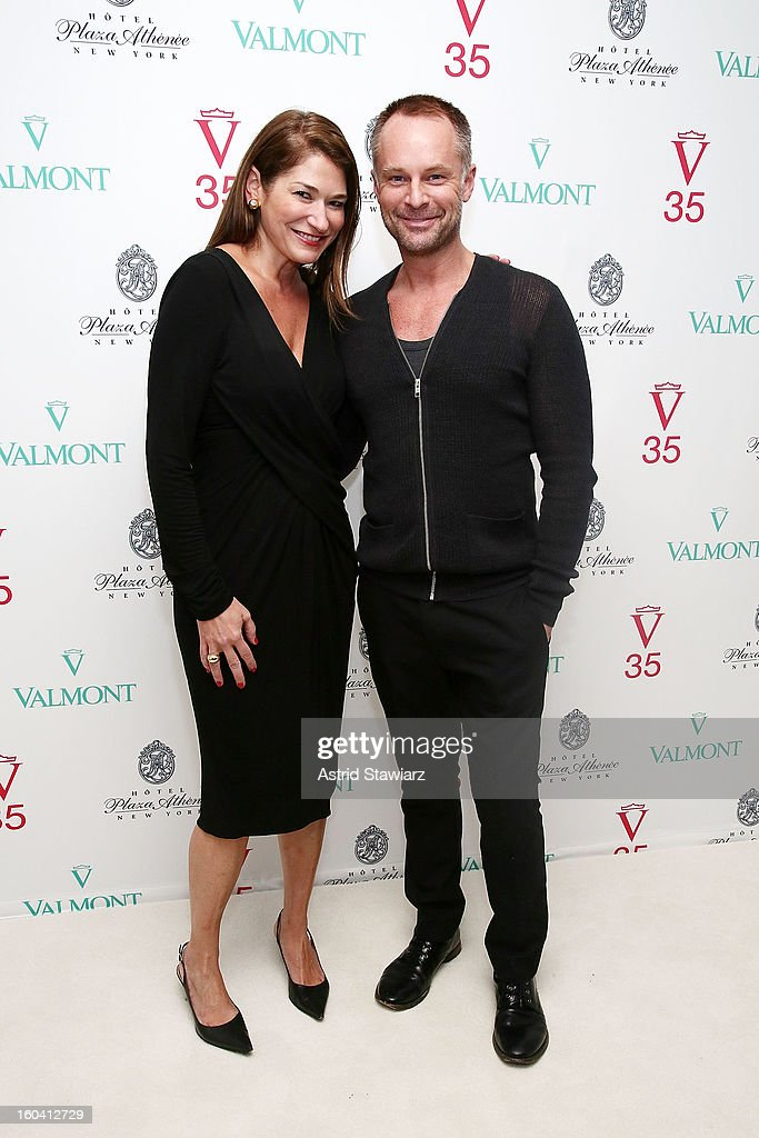 Randall Doss and David Gray attend the V35 Valmont SPA Launch Event at Plaza Athenee on January 30, 2013 in New York City.