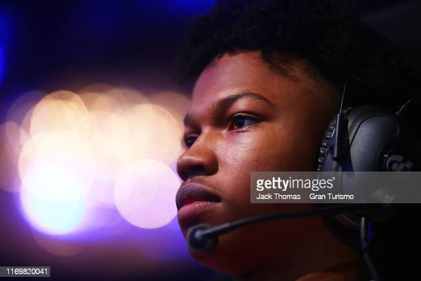 Randall Haywood of the United States competes in the Nations Cup Group A Qualifying during the Gran Turismo World Tour at the PlayStation Theater on...