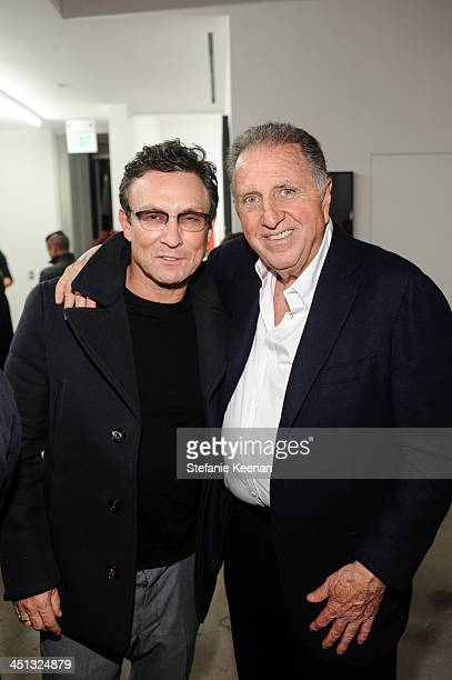 Randall Hayworth and Stanley Hollander attend The Rema Hort Mann Foundation LA Artist Initiative Benefit Auction on November 21 2013 in Los Angeles...