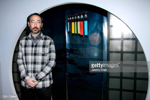 """Randall Okita of """"The Book of Distance"""" attends the New Frontier Press Preview during the 2020 Sundance Film Festival at New Frontier Central on..."""