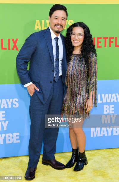 """Randall Park and Ali Wong attend the premiere of Netflix's """"Always Be My Maybe"""" at Regency Village Theatre on May 22, 2019 in Westwood, California."""