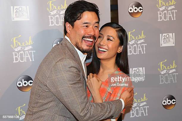 Randall Park and Constance Wu arrive at the Emmy FYC Event for ABC's Fresh Off The Boat at The London Hotel on June 3 2016 in West Hollywood...