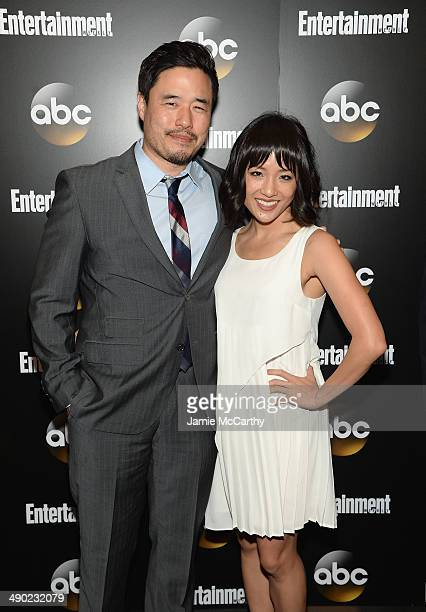 Randall Park and Constance Wu attend the Entertainment Weekly ABC Upfronts Party at Toro on May 13 2014 in New York City
