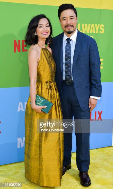 """Randall Park and Jae W. Suh attend the premiere of Netflix's """"Always Be My Maybe"""" at Regency Village Theatre on May 22, 2019 in Westwood, California."""
