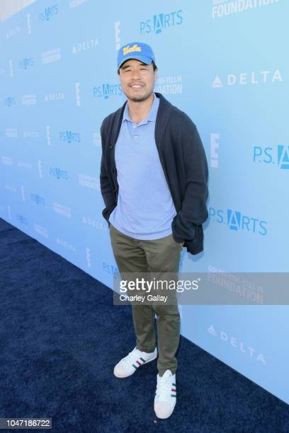 Randall Park attends PS ARTS Express Yourself 2018 at Barker Hangar on October 7 2018 in Santa Monica California