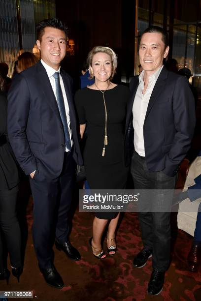 Randall Shu Lisa Anastas and Howard Yung attend Christopher R King Debuts New Luxury Brand CCCXXXIII at Baccarat Hotel on June 5 2018 in New York City