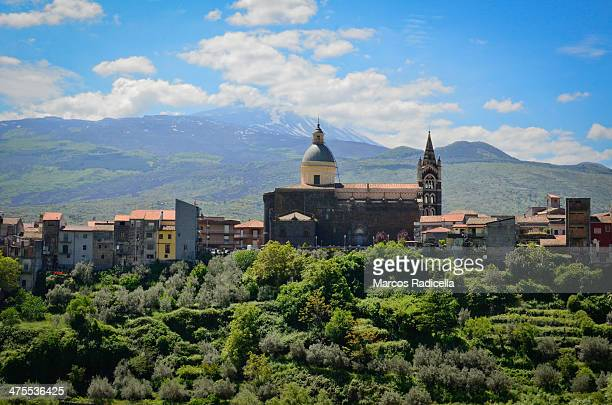 randazzo townscape, sicily - radicella stock pictures, royalty-free photos & images