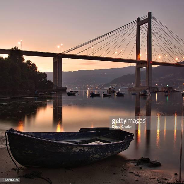 rande bridge - vigo stock pictures, royalty-free photos & images