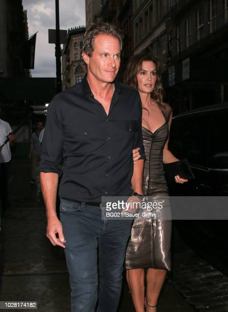 Rande Gerber and Cindy Crawford are seen on September 06 2018 in New York City