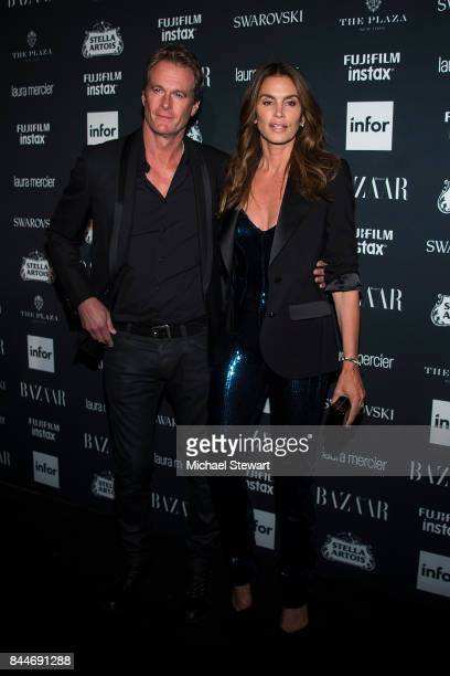 Rande Gerber and Cindy Crawford attend 2017 Harper's Bazaar Icons at The Plaza Hotel on September 8 2017 in New York City