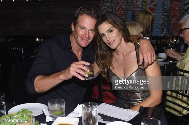 Rande Gerber and Cindy Crawford attend a private dinner hosted by Cindy Crawford Ed Razek and Russell James celebrating 'ANGELS' by Russell James...