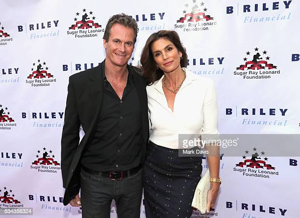 Rande Gerber and Cindy Crawford attend B Riley Co and Sugar Ray Leonard Foundation's 7th Annual Big Fighters Big Cause Charity Boxing Night at Dolby...